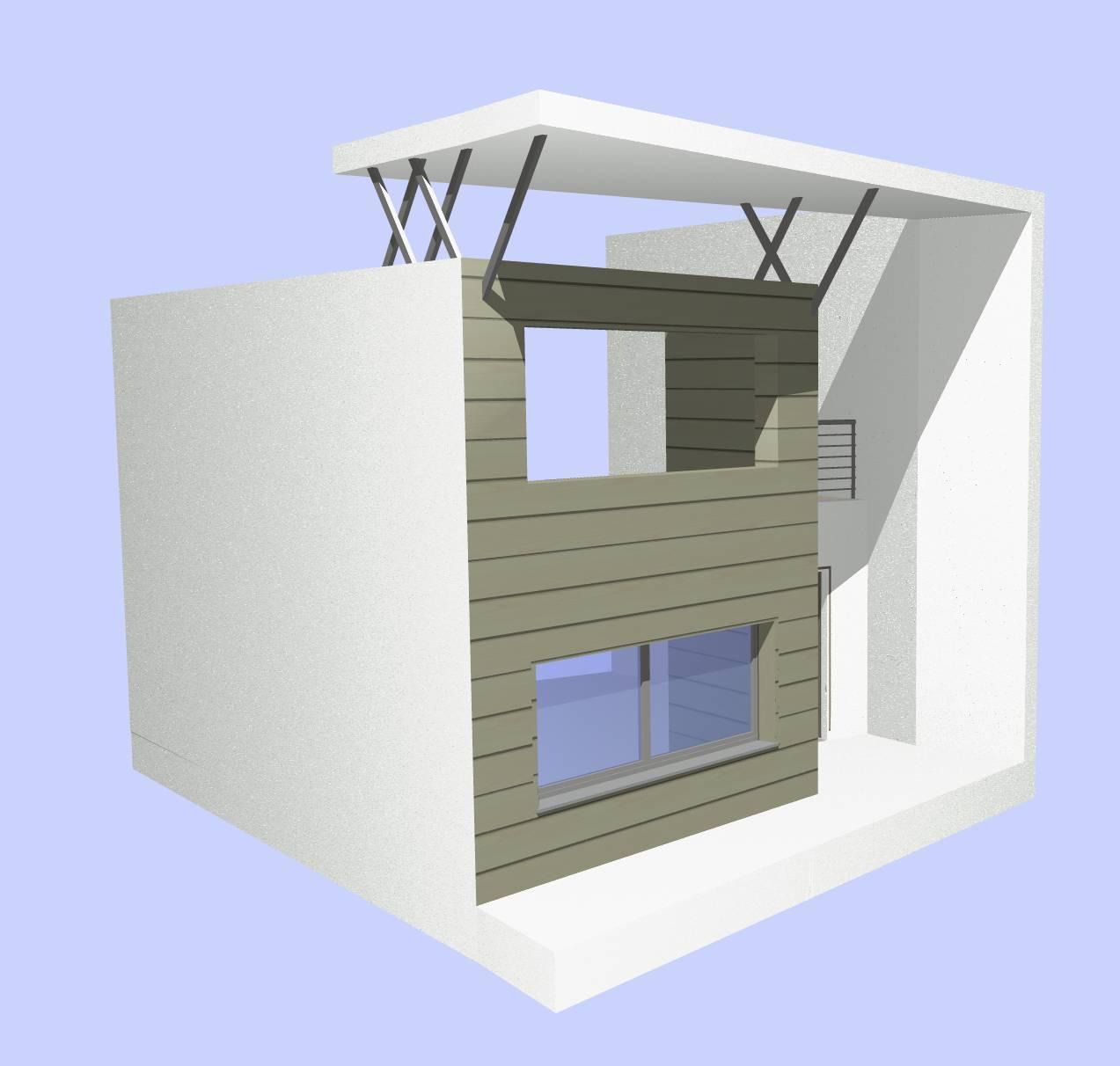 facciata, modello di studio