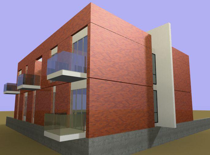 facciata posteriore - laterale residenze