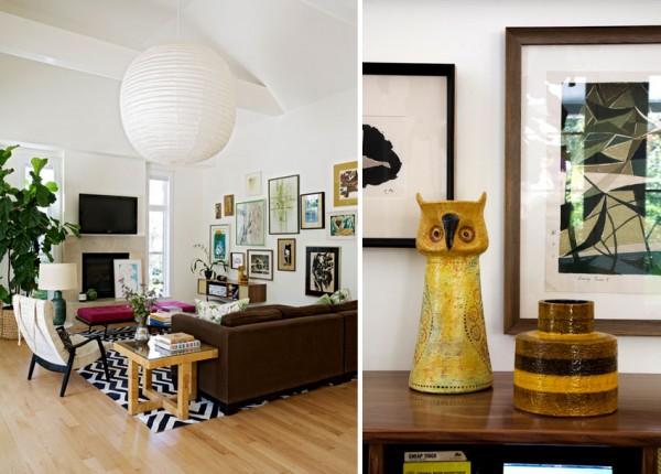 casa in stile eclettico mobili diversi per colore e stili