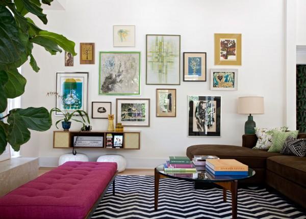 Casa in stile eclettico mobili diversi per colore e stili for Piani di casa rispettosi dell ambiente