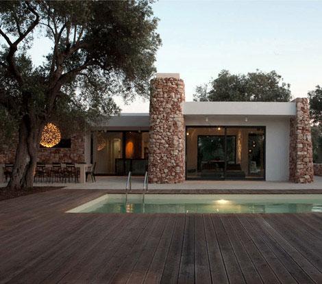 Una villa tra gli ulivi in puglia architetto facile for Progetto villa moderna