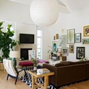 Casa in stile eclettico: mobili diversi per colore e stili