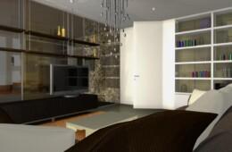 Una parete vetrata per il soggiorno