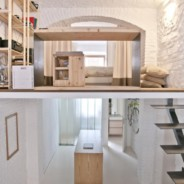 Un loft con interni total white