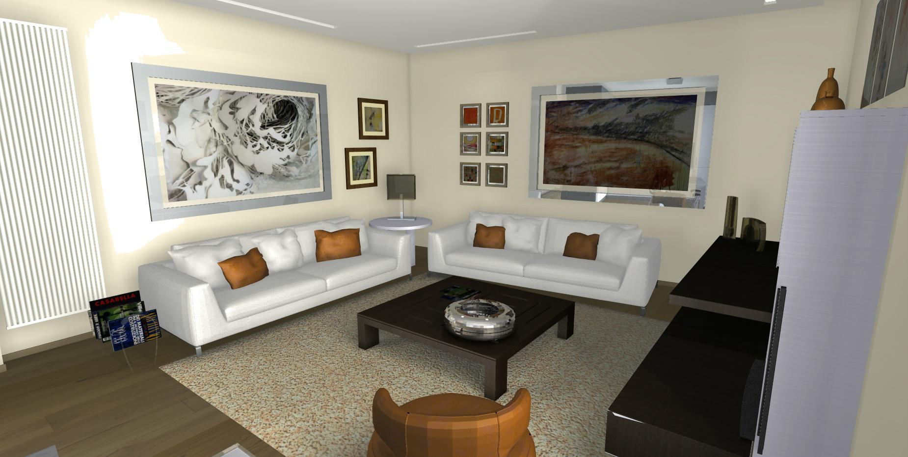 Salone Open Space Con Camino E Parquet ~ Idee Di Design Per ...