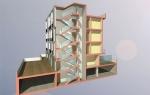 sezione prospettica sul vano scala