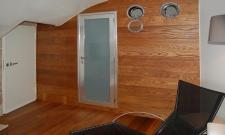 soggiorno, parete del bagno