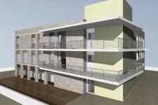 facciata principale - vano scala angolare